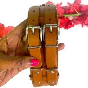 Tommy leather brown belt
